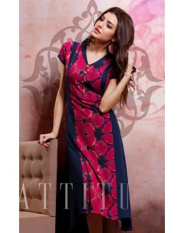 Office Wear Readymade Pink Cotton Kurti - 79547