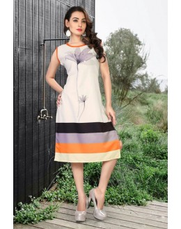 Office Wear Readymade White Kurti - 80223