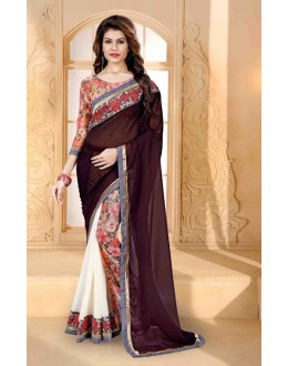 Party Wear Multi-Colour Georgette Saree  - 80258