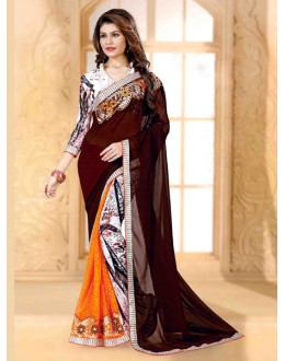Ethnic Wear Multi-Colour Georgette Saree  - 80260
