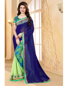 Ethnic Wear Multi-Colour Georgette Saree  - 80262