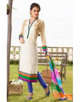 Festival Wear Readymade Off White Salwar Suit - 79816