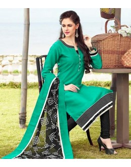 Office Wear Readymade Turquoise Salwar Suit - 79834