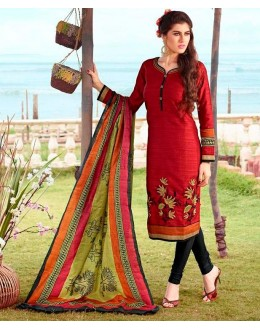 Office Wear Readymade Red Salwar Suit - 79837