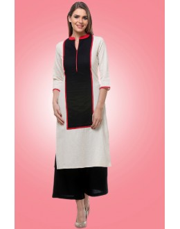 Casual Wear Readymade Black & White Kurti - 80015