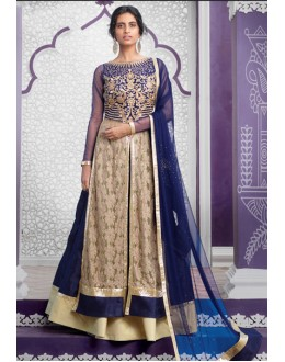 Ethnic Wear Blue Net Lehenga Suit  - 80198