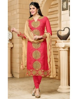 Festival Wear Red Georgette Salwar Suit  - 80599