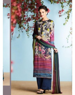 Ethnic Wear Multi-Colour Georgette Palazzo Suit  - 80669