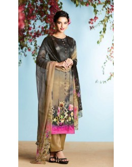 Ethnic Wear Brown Georgette Palazzo Suit  - 80673