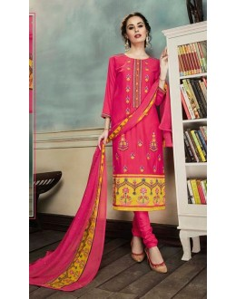 Ethnic Wear Pink Georgette Salwar Suit  - 80693