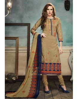 Casual Wear Brown Georgette Salwar Suit  - 80694