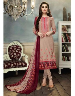 Office Wear Beige Georgette Salwar Suit  - 80698