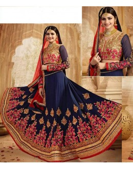 Prachi Desai In Blue Lehenga Choli - 80961