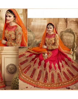 Prachi Desai In Red Lehenga Choli - 80965