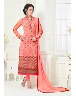 Party Wear Pink Georgette Salwar Suit - 81236