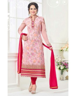 Ethnic Wear Pink Georgette Salwar Suit - 81240