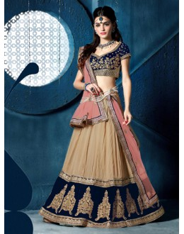 Festival Wear Brown Chiffon Lehenga Choli - 81283