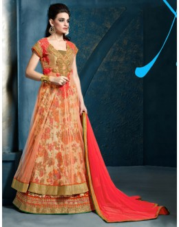 Ethnic Wear Multi-Colour Satin Lehenga Suit - 81289
