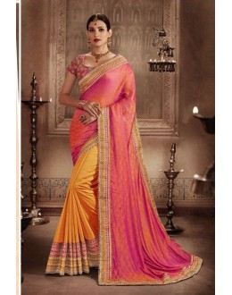 Festival Wear Multi-Colour Jacquard Saree - 81300