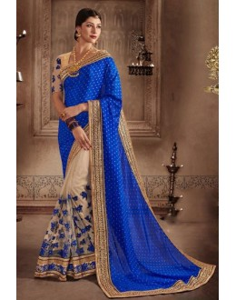 Jacquard Multi-Colour Embroidery Saree - 81303