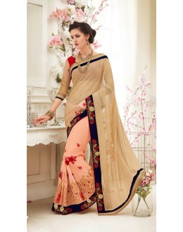 Ethnic Wear Half & Half Saree  - 82418