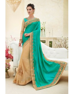 Party Wear Multi-Colour Georgette Saree  - 82428