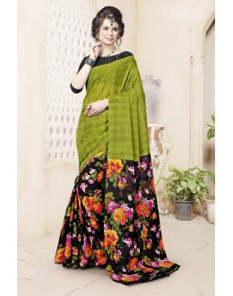 Multi-Colour Cotton Printed Saree  - 82466