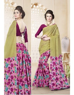 Casual Wear Multi-Colour Cotton Saree  - 82469