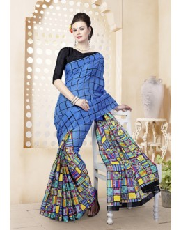 Ethnic Wear Multi-Colour Cotton Saree  - 82473