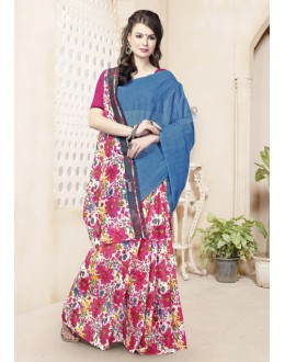 Ethnic Wear Multi-Colour Cotton Saree  - 82474