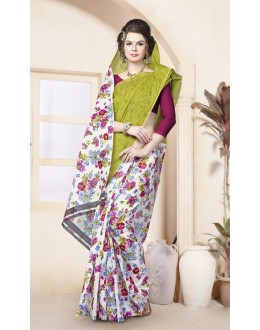 Casual Wear Multi-Colour Cotton Saree  - 82475