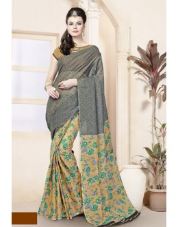 Ethnic Wear Multi-Colour Cotton Saree  - 82479