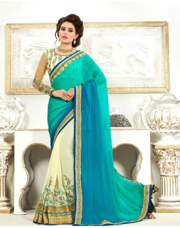 Festival Wear Multi-Colour Chiffon Saree  - 82498
