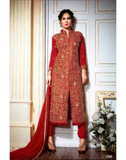 Party wear Red Salwar suit -2340