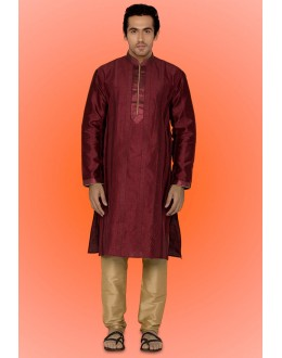 Ready-Made Ethnic Wear Maroon Kurta & Pajama - 78730