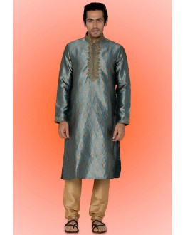 Ready-Made Festival Wear Blue Kurta & Pajama - 78732