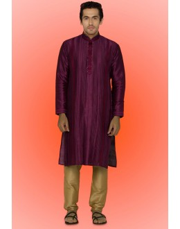 Ready-Made Ethinc Wear Purple Kurta & Pajama - 78740