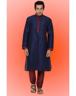 Ready-Made Festival Wear Blue Kurta & Pajama - 78744