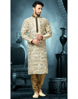 Ready-Made Festival Wear White Kurta & Pajama - 78797