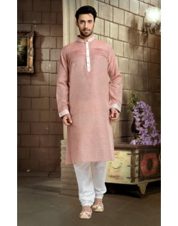 Ready-Made Ethnic Wear Pink Kurta & Pajama - 78799