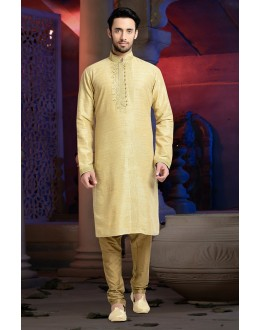 Ready-Made Festival Wear Cream Kurta & Pajama - 78801