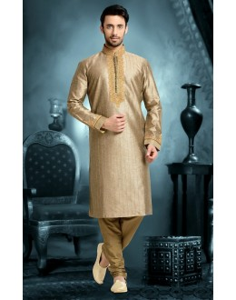 Ready-Made Wedding Wear Grey Kurta & Pajama - 78810