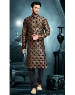 Ready-Made Traditional Beige Kurta & Pajama - 78811