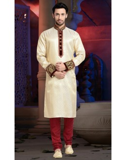 Ready-Made Festival Wear White Kurta & Pajama - 78817