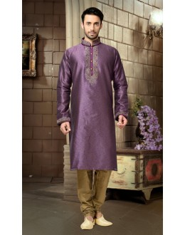 Ready-Made Ethnic Wear Lavender Kurta & Pajama - 78820