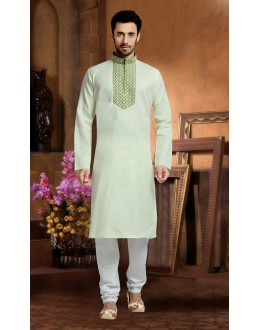 Ready-Made Traditional Green Kurta & Pajama - 78822