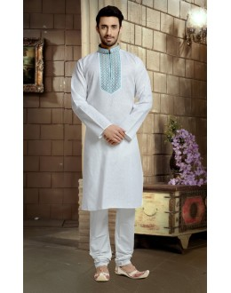 Ready-Made Ethnic Wear Cotton Kurta & Pajama - 78824