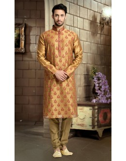 Ready-Made Ethnic Wear Beige Kurta & Pajama - 78831