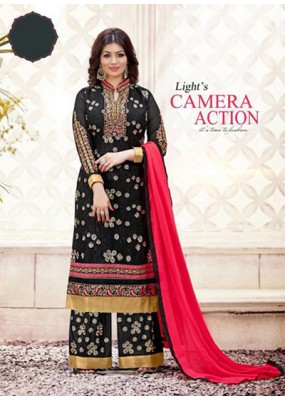 Eid Special Black, Pink  Palazzo Suit - 70038