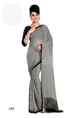 Party Wear Georgette Black Saree - RKAM106